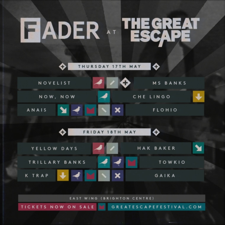 Announcing The FADER Stage at Brighton's The Great Escape