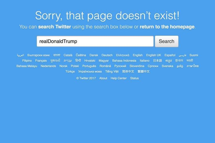 A Twitter employee temporarily deactivated Trump's account on their last day in work