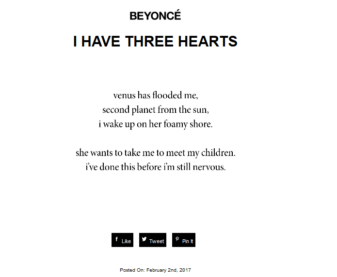 Beyoncé Just Shared More Pictures And A Poem From Her Pregnancy Announcement