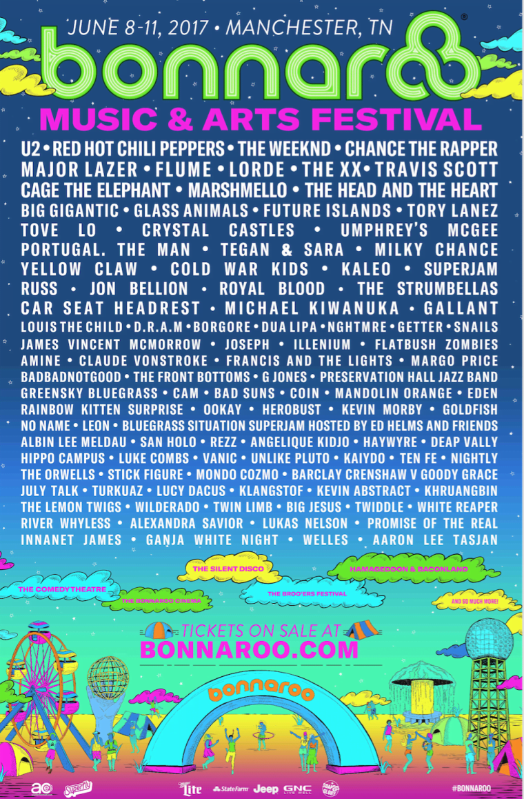 The Weeknd, Chance The Rapper, And Red Hot Chili Peppers To Headline Bonnaroo 2017