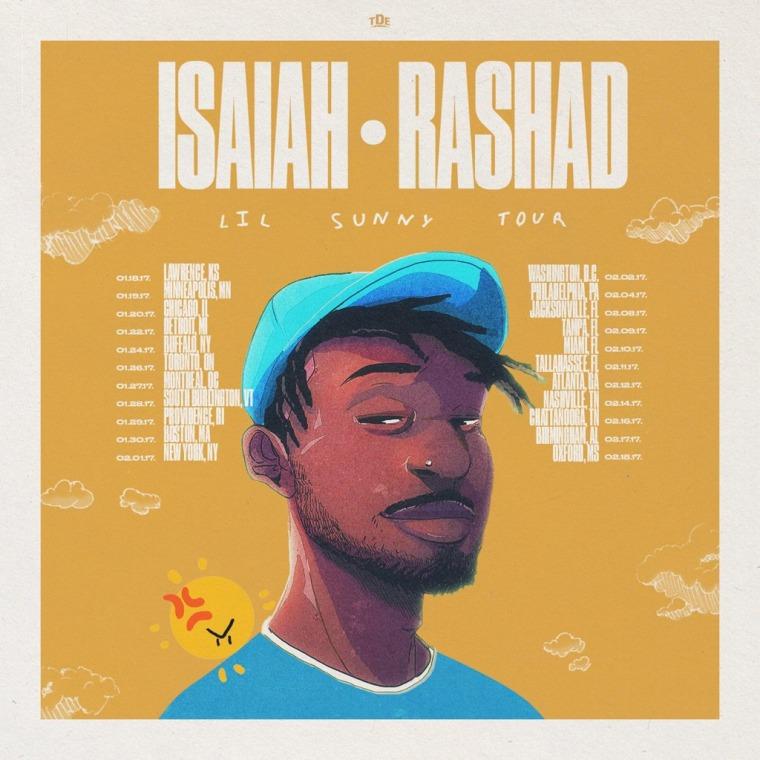 Isaiah Rashad Announces Lil Sunny Tour