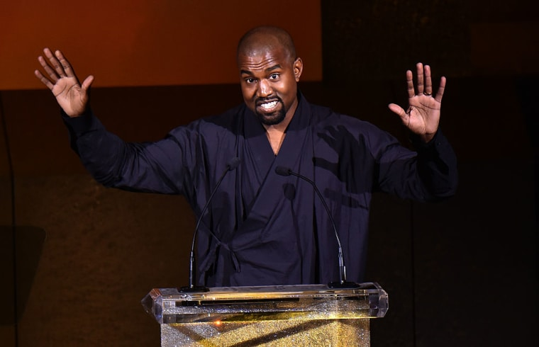 """Kanye says his """"book"""" is just his Twitter posts"""