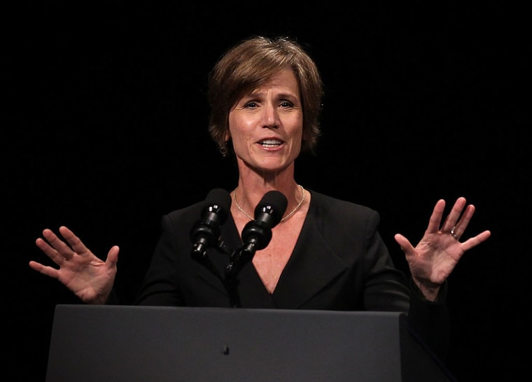 Acting Attorney General Sally Yates Fired After Instructing Justice Department Not To Defend Trump's Muslim Ban