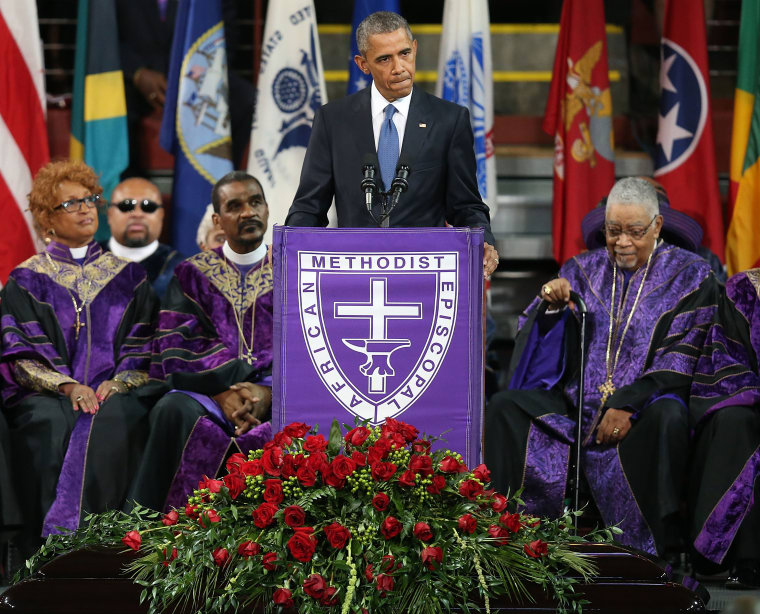 "President Obama Paid Tribute To Charleston Shooting Victims By Singing ""Amazing Grace"""