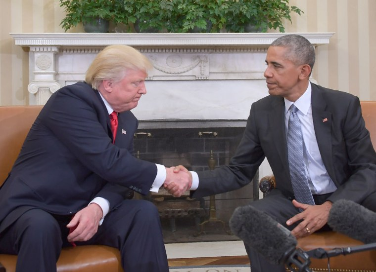 """Obama To Trump: """"If You Succeed, The Country Succeeds"""""""