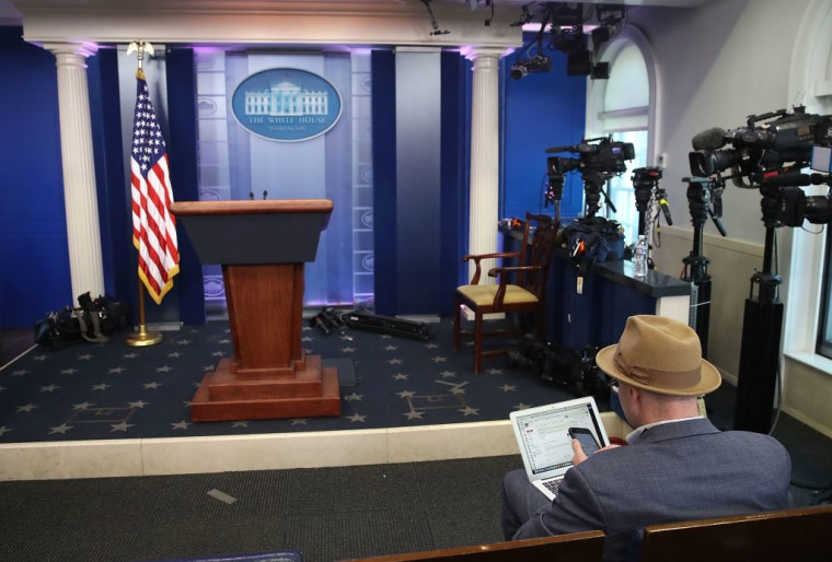 White House Blocks Reporters From <i>New York Times</i>, CNN, And Other Outlets From Press Briefing