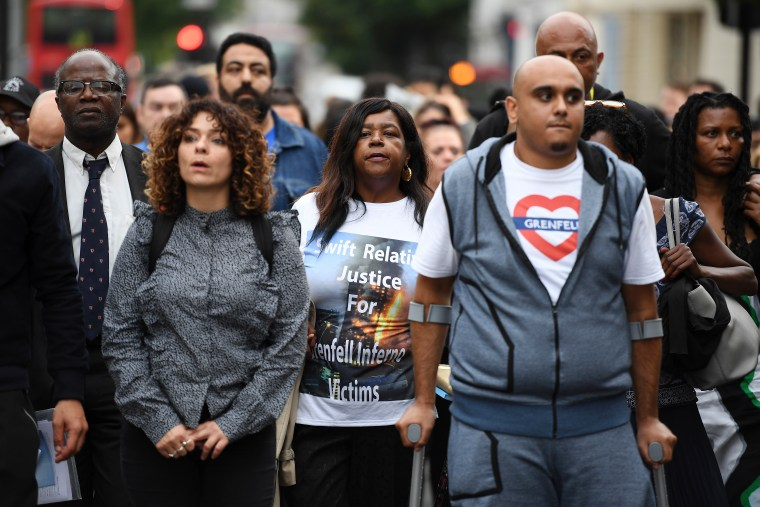 Silent Protest Held In London Two Months On From Grenfell Tower Fire
