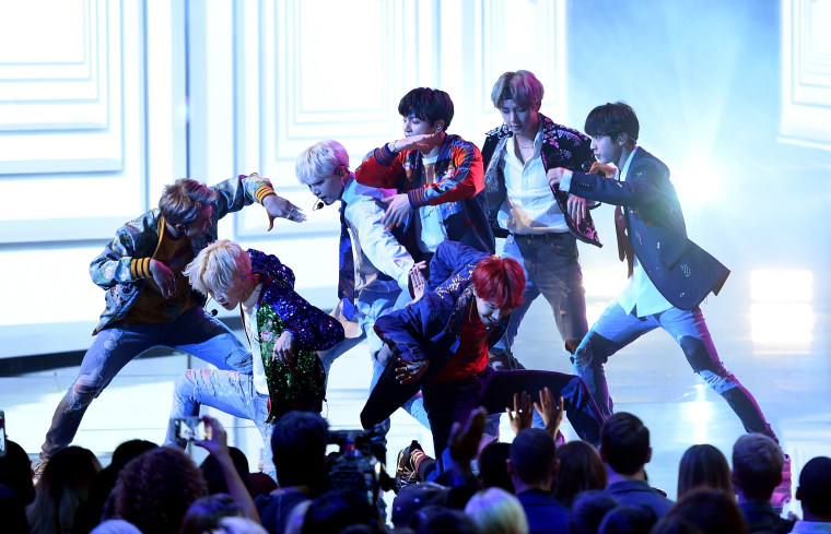 Watch BTS make their official U.S. television debut at the American Music Awards