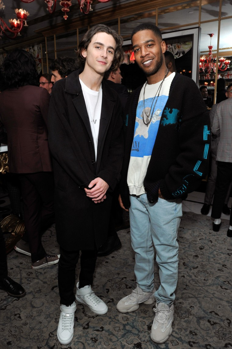 Timothée Chalamet and Kid Cudi stan for each other