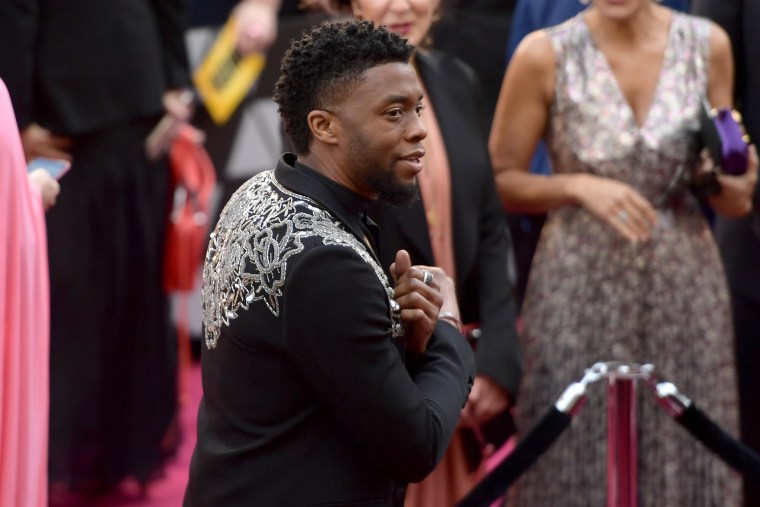 Chadwick Boseman was the king of the Oscars Red Carpet