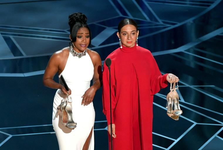 Tiffany Haddish's <i>SNL</i> gown made a return at the Oscars