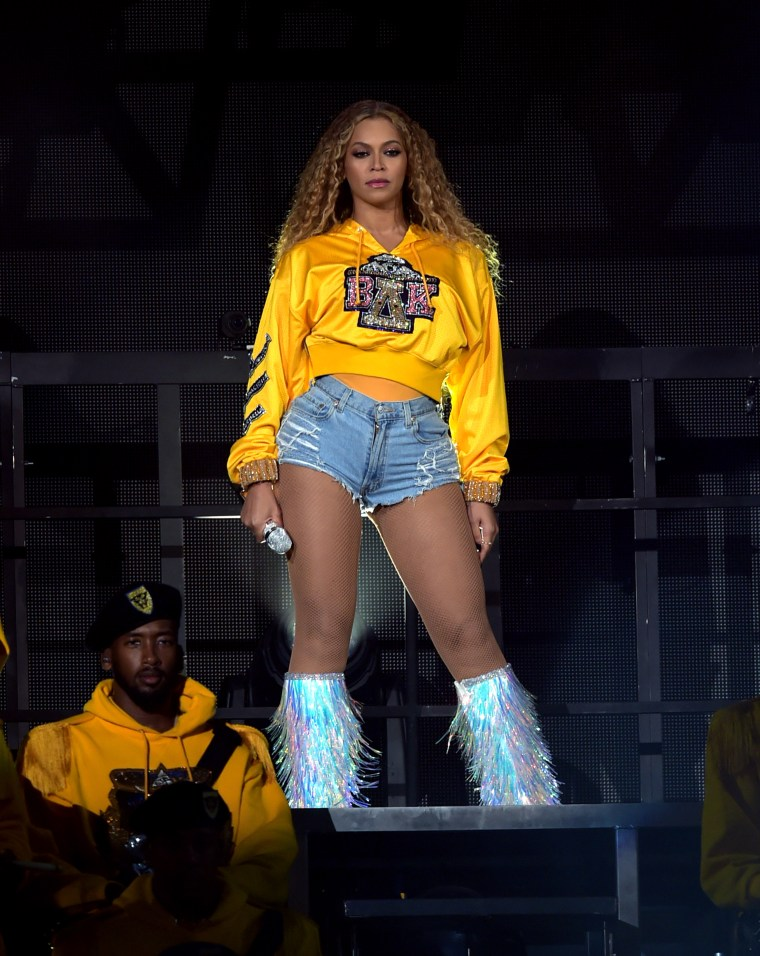 Beyoncé wore five custom Balmain outfits during her Coachella performance