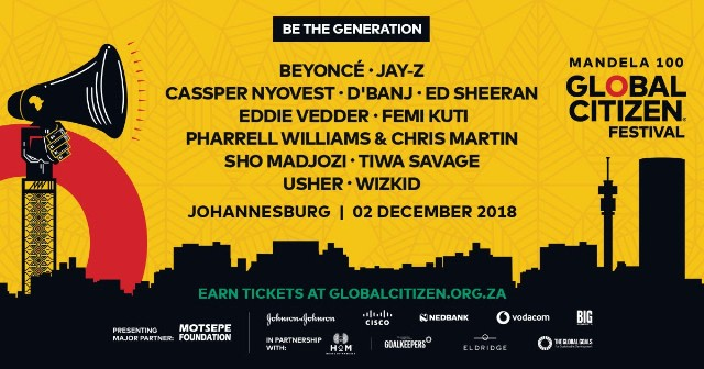 Beyoncé and JAY-Z to headline Global Citizen concert in South Africa