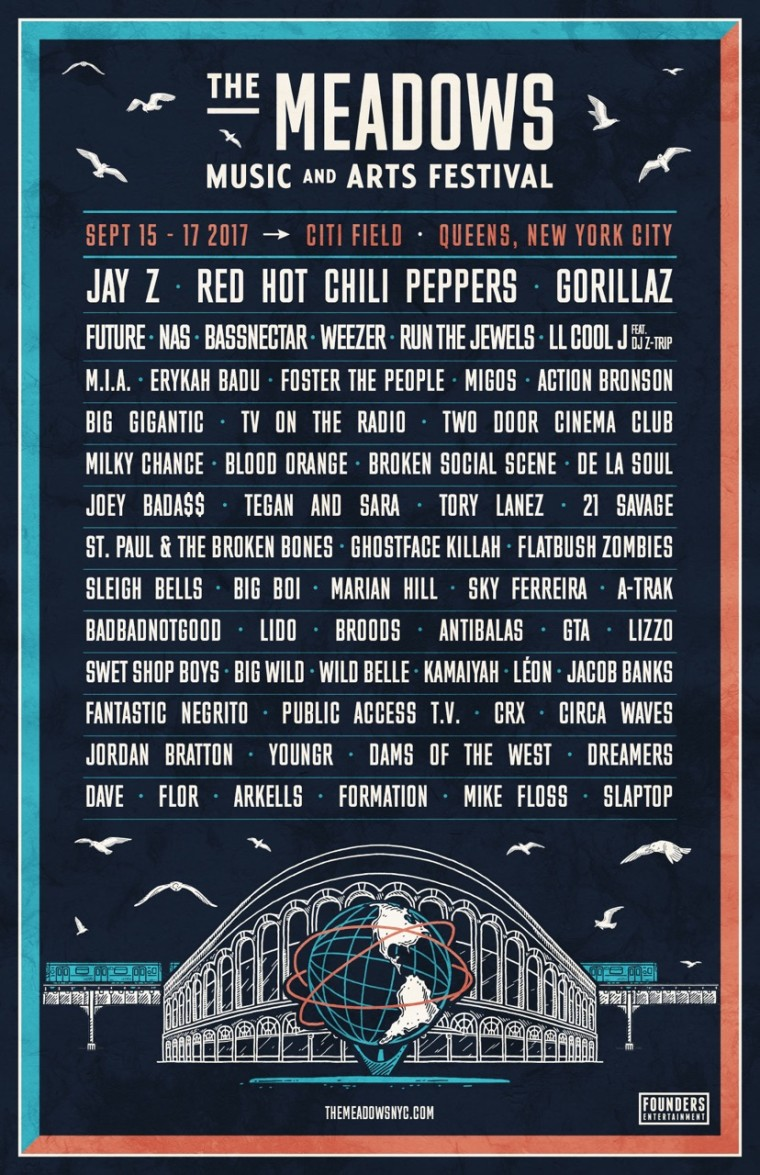 Jay Z And Gorillaz To Headline The Meadows 2017