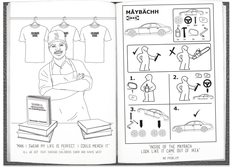 Chance The Rapper's <i>Coloring Book</i> Lyrics Are Now In A Real (And Free) Coloring Book