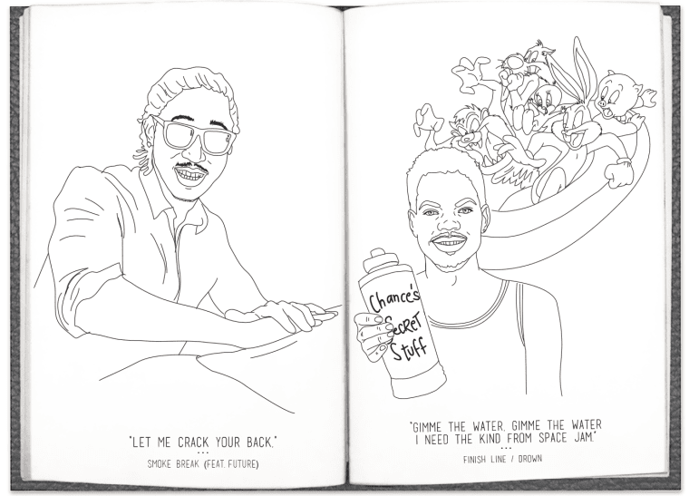 Chance the rappers coloring book lyrics are now in