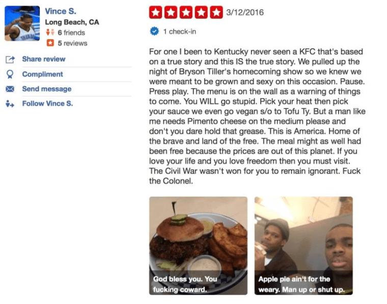 Vince Staples Destroyed The Yelp Game With This Fried Chicken Review