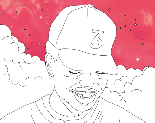 Chance the rapper s coloring book lyrics are now in a real Coloring book by chance the rapper
