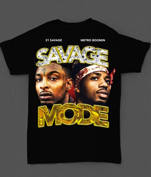 21 Savage And Metro Boomin Channel Pen & Pixel For New <i>Savage Mode</i> Shirt
