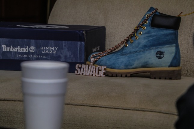 21 Savage Links With Jimmy Jazz To Create New Denim Timberland Boot