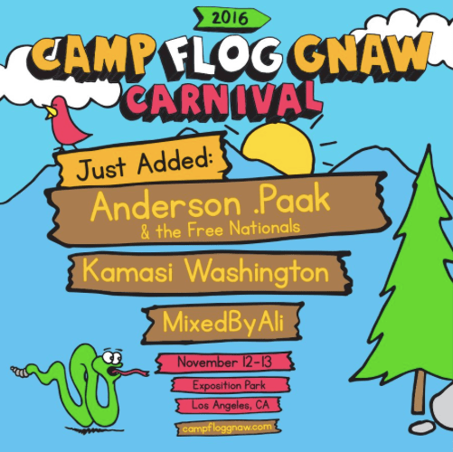 Anderson .Paak And Kamasi Washington Added To Camp Flog Gnaw Lineup