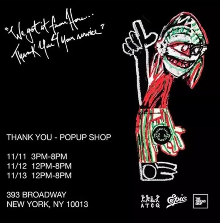 A Tribe Called Quest Will Host <i>Thank You</i> Pop Up Shop In NYC This Week