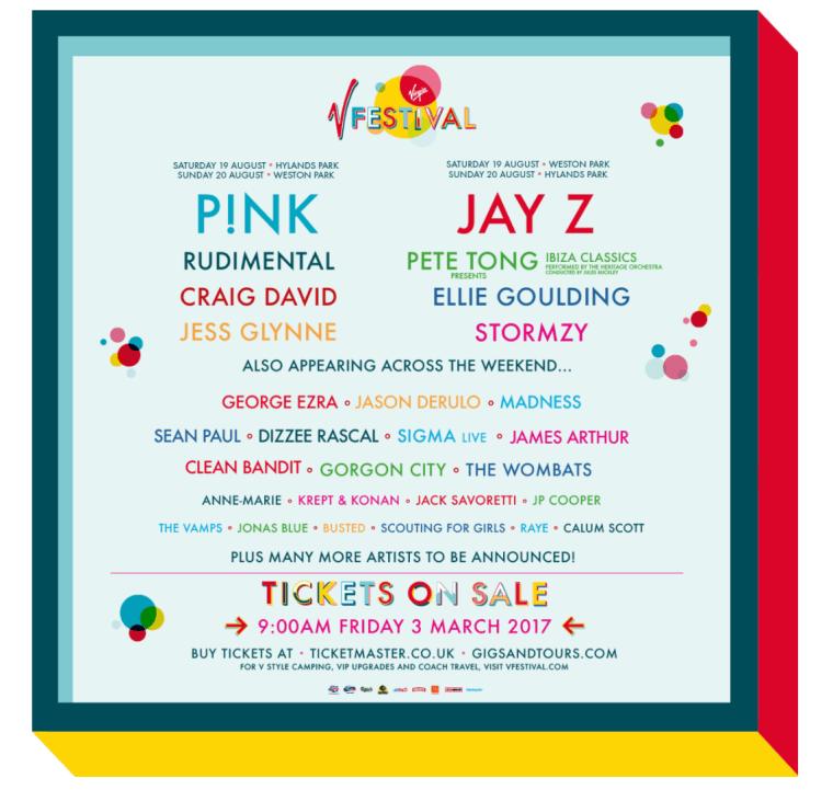 Jay Z Headling UK's V Festival 2017