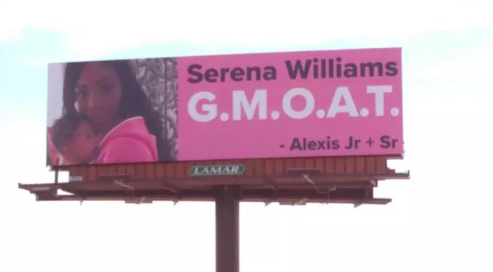 Alexis Ohanian got Serena Williams four billboards to celebrate her return to tennis