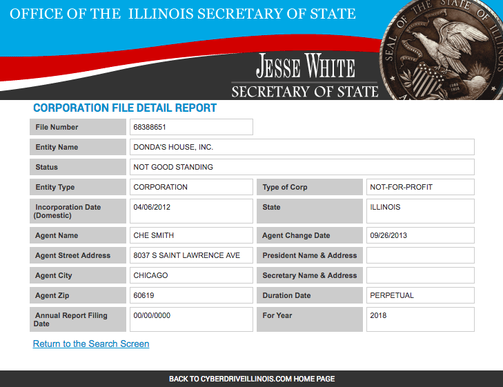 """Donda's House is """"Not In Good Standing,"""" according to the Illinois Secretary of State"""