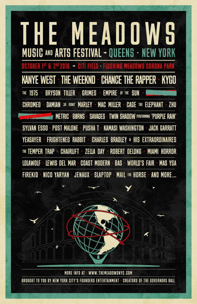 Kanye West Is Headlining New York Festival The Meadows