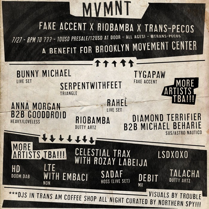 RIOBAMBA And Tygapaw Organize Benefit Concert For The Brooklyn Movement Center