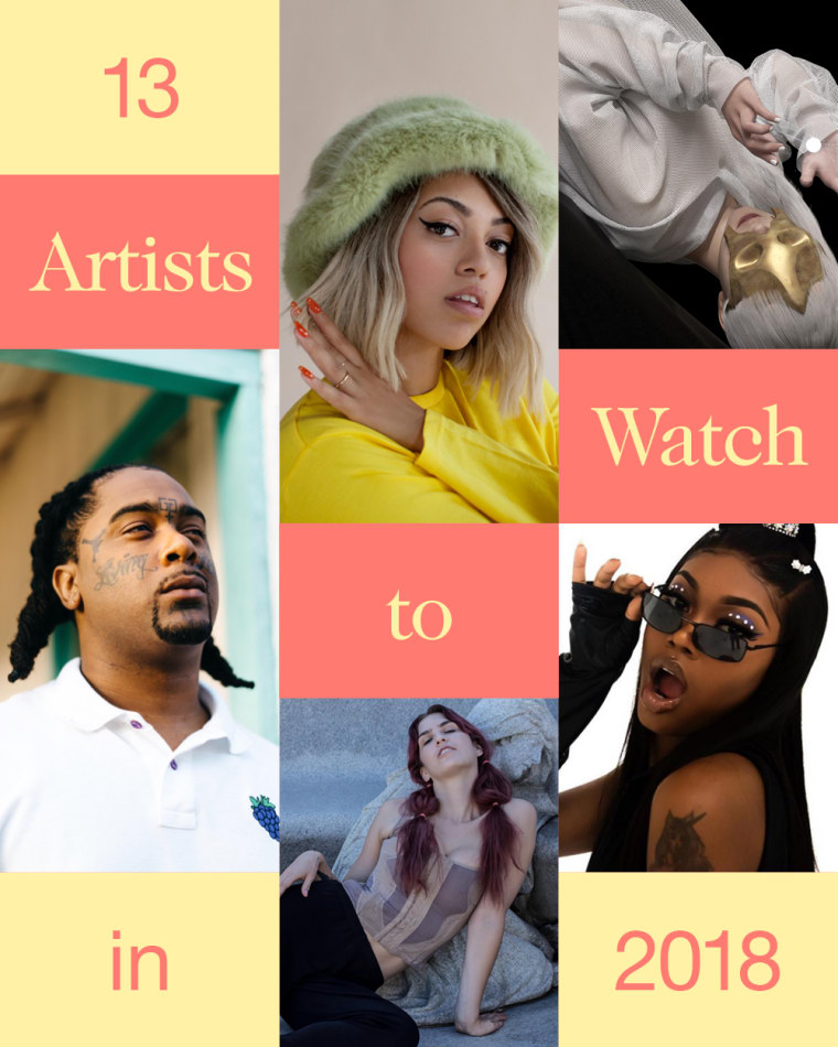 13 artists you need to know about in 2018