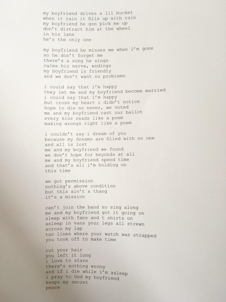 "Read ""Boyfriend,"" A Poem By Frank Ocean"
