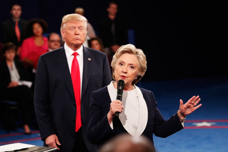 Twitter Is Freaking Out Over Donald Trump Walking Right Behind Hillary Clinton