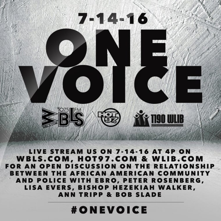 New York City Radio Stations To Simulcast <i>One Voice</i> Open Discussion