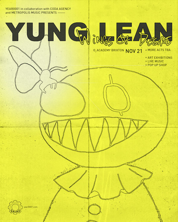 """Yung Lean announces """"Wings Of Desire"""" event in London"""