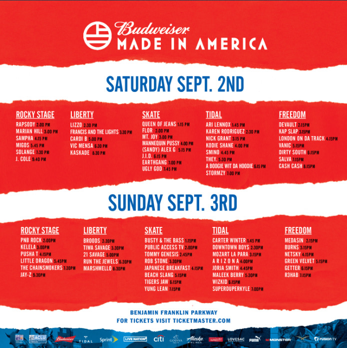 Watch Sunday's Budweiser Made In America Livestream