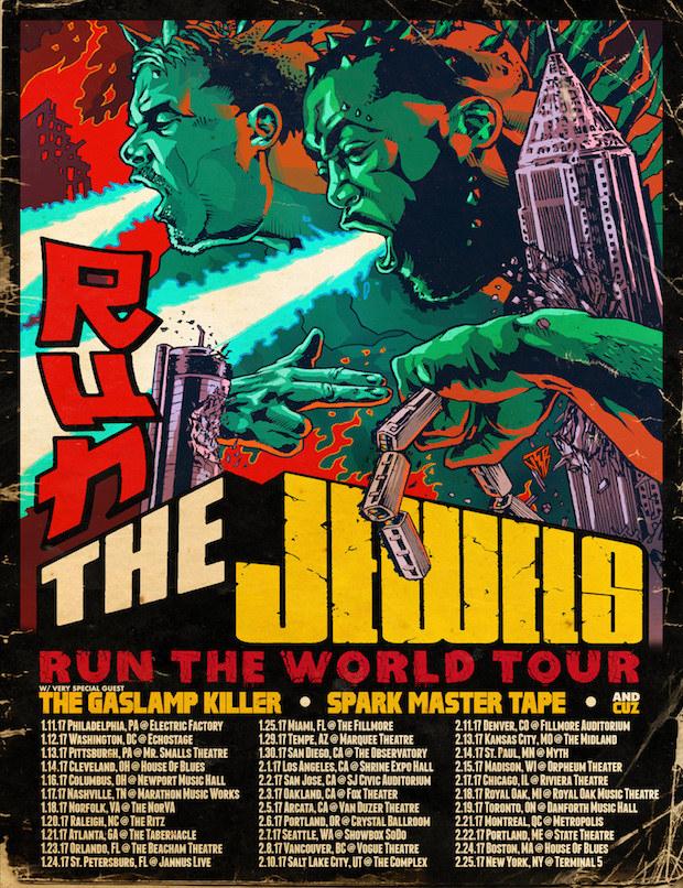 "Run The Jewels Announce 2017 ""Run The World"" Tour Dates"