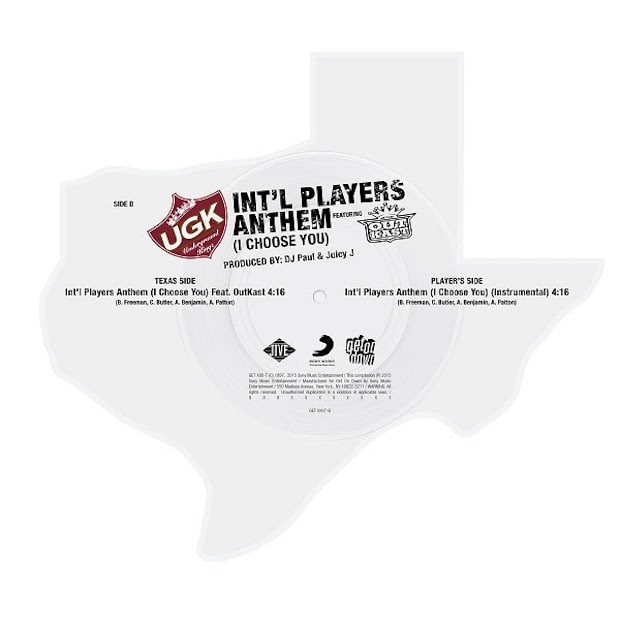 "UGK's ""Int'l Players Anthem"" Is Being Reissued On Texas-Shaped Vinyl"