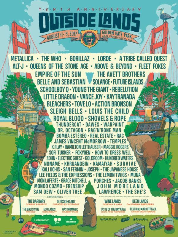 Gorillaz, Lorde, A Tribe Called Quest, And More To Play Outside Lands 2017