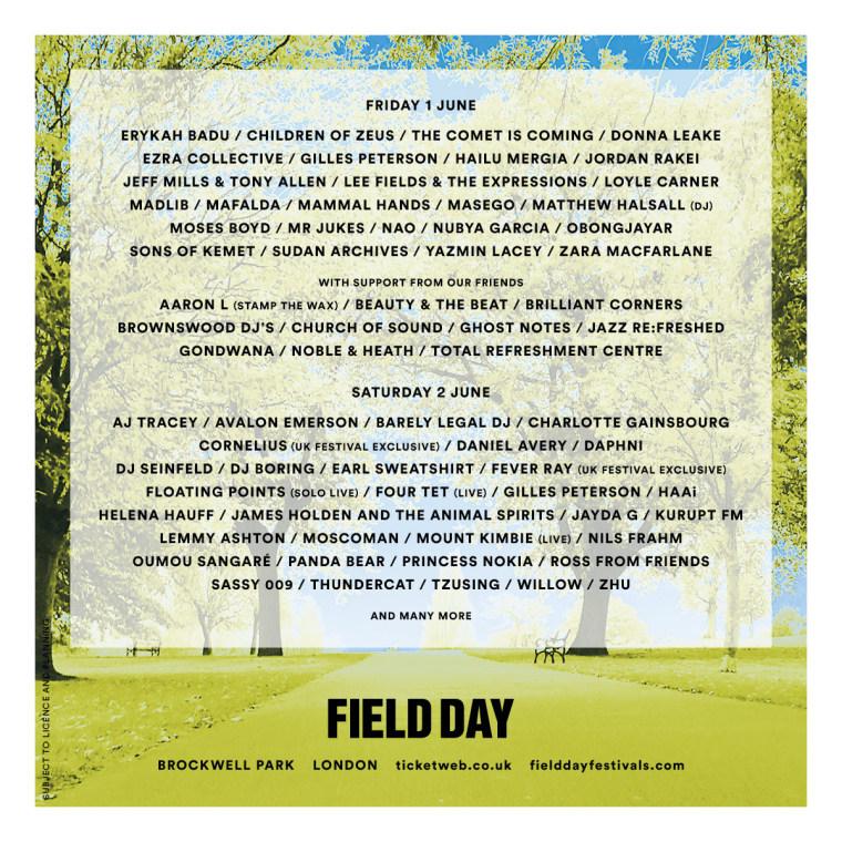 Erykah Badu to headline London festival Field Day