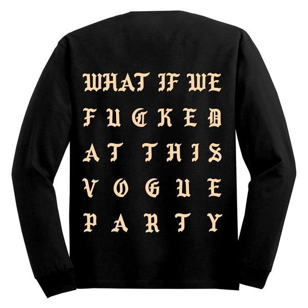 Kanye West Releases Vogue Party Long Sleeve T-Shirt