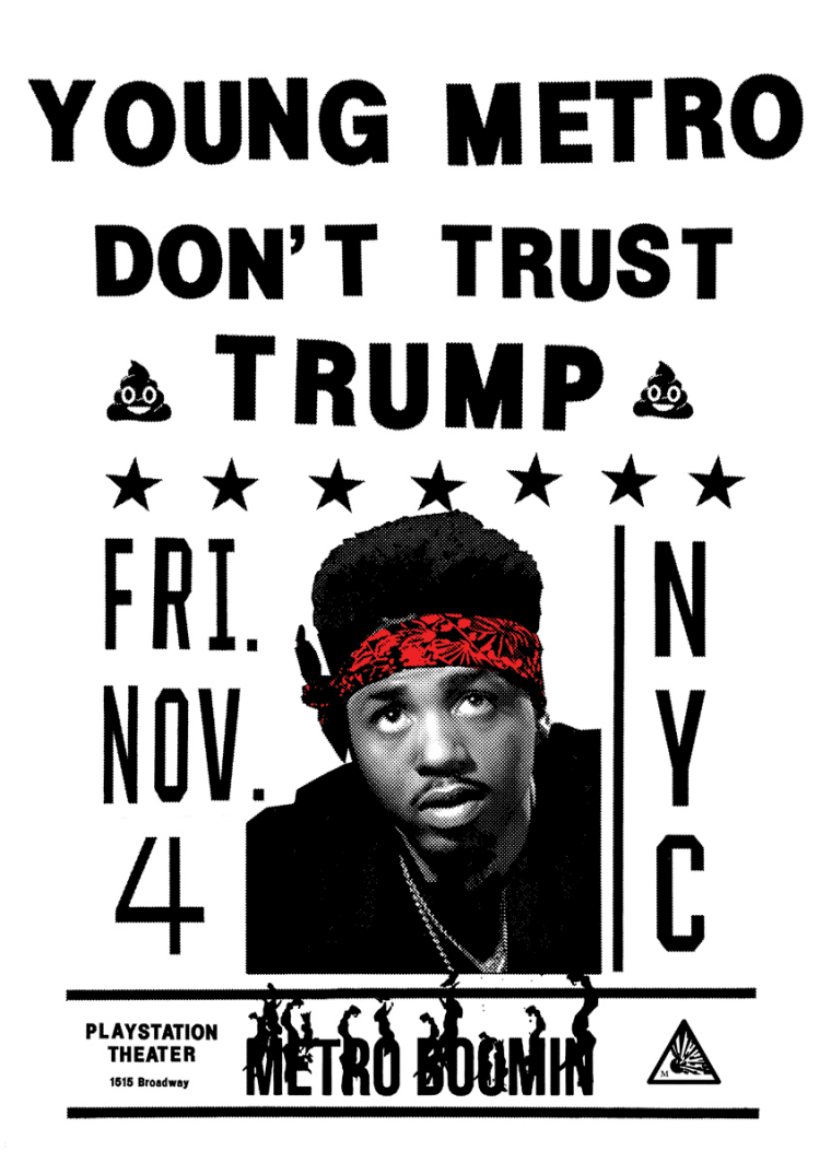 Metro Boomin Throwing Young Metro Don't Trust Trump Concert In NYC