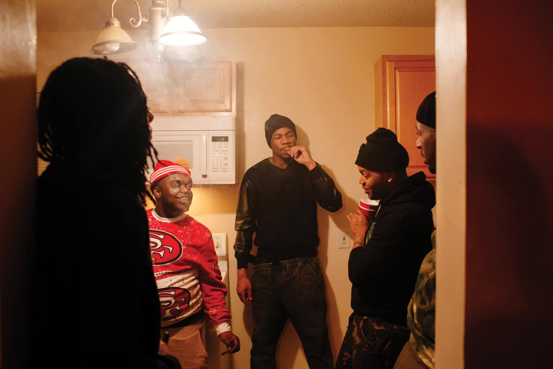 Thug boy york beats off