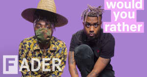 EarthGang debate the Atlanta Falcons' troubled history, being the UGA mascot, and more on Would You Rather