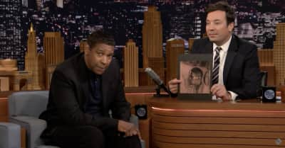 Watch Denzel Washington react to Drake's tattoo of his face