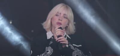 "Watch Billie Eilish perform ""Happier Than Ever"" on Kimmel"