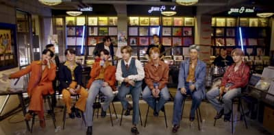 Watch BTS perform in a record store for NPR's Tiny Desk (Home) Concert
