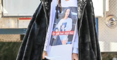 Rihanna Wearing A Shirt Of Herself Wearing A Shirt Of Hillary Clinton Is So Meta