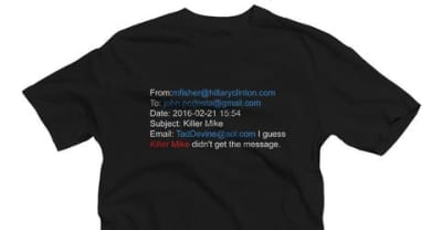Killer Mike Turned Leaked Emails About Him From The Clinton Campaign Into A T-Shirt